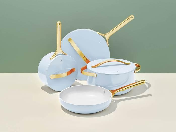"""<p>""""I am not exaggerating when I tell you that the <span>Caraway Cookware Set</span> ($495, originally $595) has totally changed my daily routine for the better. I have been cooking meals with it every day. The first thing I made was a fried egg, and I couldn't believe how easily it slid right off the pan. I have used this cookware for over a month now, and I haven't had to scrape a single item off its surface. No sticking means something even more important: easy cleaning. I don't have to spend ages standing over my sink, trying to get surfaces clean. Rinsing this set is a breeze. Nothing is ever piled up in the sink anymore, because I don't feel like I have a challenge I'm avoiding. I'm telling you, Caraway's products are absolutely worth the investment."""" - MCW</p> <p>If you want to read more, here is the <a href=""""https://www.popsugar.com/food/caraway-home-cookware-set-review-47377800"""" class=""""link rapid-noclick-resp"""" rel=""""nofollow noopener"""" target=""""_blank"""" data-ylk=""""slk:Caraway Cookware Set"""">Caraway Cookware Set</a> review.</p>"""