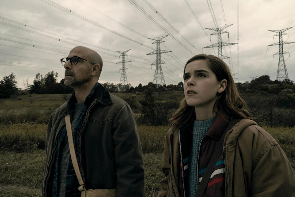 Stanley Tucci and Kiernan Shipka in The SilenceNetflix