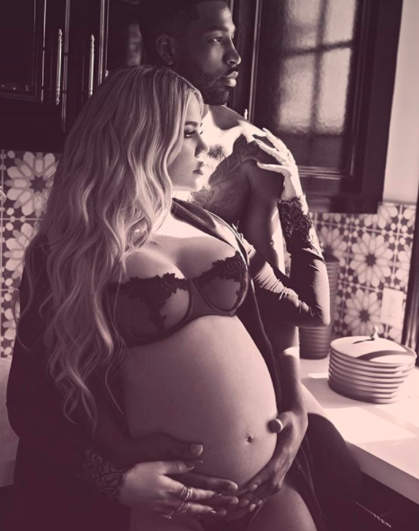 Khloe is currently pregnant with her first child with boyfriend Tristan. Source: Instagram / khloekardashian