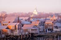 """Nantucket isn't just for summering. A fall trip to the island will be relatively quiet and crowd-free, but you can still enjoy the same outdoor activities as during high season. Spend your days sailing, golfing, biking, and walking to nearby lighthouses, or enjoy the lack of lines at <a href=""""https://www.ciscobrewersnantucket.com/"""" rel=""""nofollow noopener"""" target=""""_blank"""" data-ylk=""""slk:Cisco Brewers"""" class=""""link rapid-noclick-resp"""">Cisco Brewers</a> and <a href=""""http://www.proprietorsnantucket.com/"""" rel=""""nofollow noopener"""" target=""""_blank"""" data-ylk=""""slk:The Proprietors"""" class=""""link rapid-noclick-resp"""">The Proprietors</a>. Don't miss the 10th annual <a href=""""https://nantucketproject.com/"""" rel=""""nofollow noopener"""" target=""""_blank"""" data-ylk=""""slk:Nantucket Project"""" class=""""link rapid-noclick-resp"""">Nantucket Project</a> (September 23-26), an """"ideas conference"""" where celebrities and innovators give live talks and music performances, as well as screen original films. This year's line-up of keynote speakers has yet to be announced, but past headliners include Jennifer Garner, Paul Giamatti, Steve Wozniak, and Ndaba Mandela. The event will be held at the <a href=""""https://www.cntraveler.com/hotels/united-states/nantucket/white-elephant-hotel-nantucket?mbid=synd_yahoo_rss"""" rel=""""nofollow noopener"""" target=""""_blank"""" data-ylk=""""slk:White Elephant"""" class=""""link rapid-noclick-resp"""">White Elephant</a> hotel, which happens to be one of the most beloved properties in Nantucket. The waterfront resort features spacious suites with harbor views, an outdoor heated pool, and a world-class spa, plus some of the best seafood on the island."""