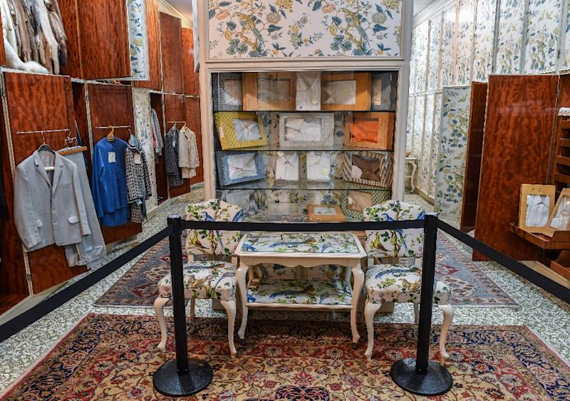Clothes belonging to late Romanian dictator Nicolae Ceausescu and his wife Elena are displayed inside the dressing room at their former residence, Palatul Primaverii (the Palace of Spring)in Bucharest (AFP Photo/Daniel MIHAILESCU)