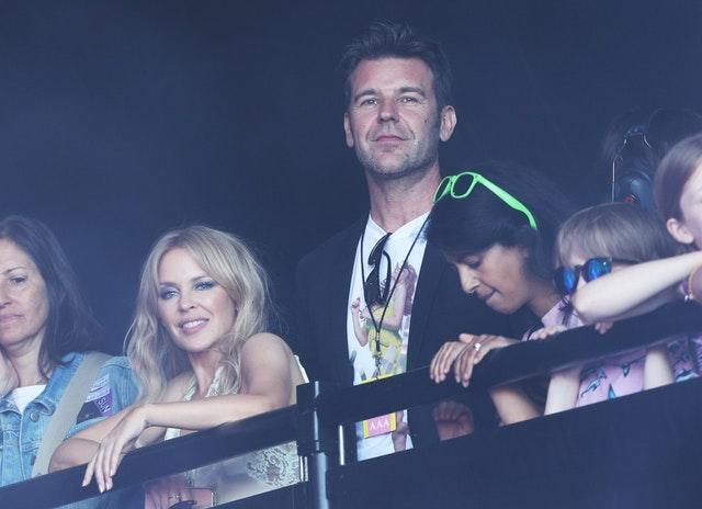Kylie Minogue and boyfriend Paul Solomons