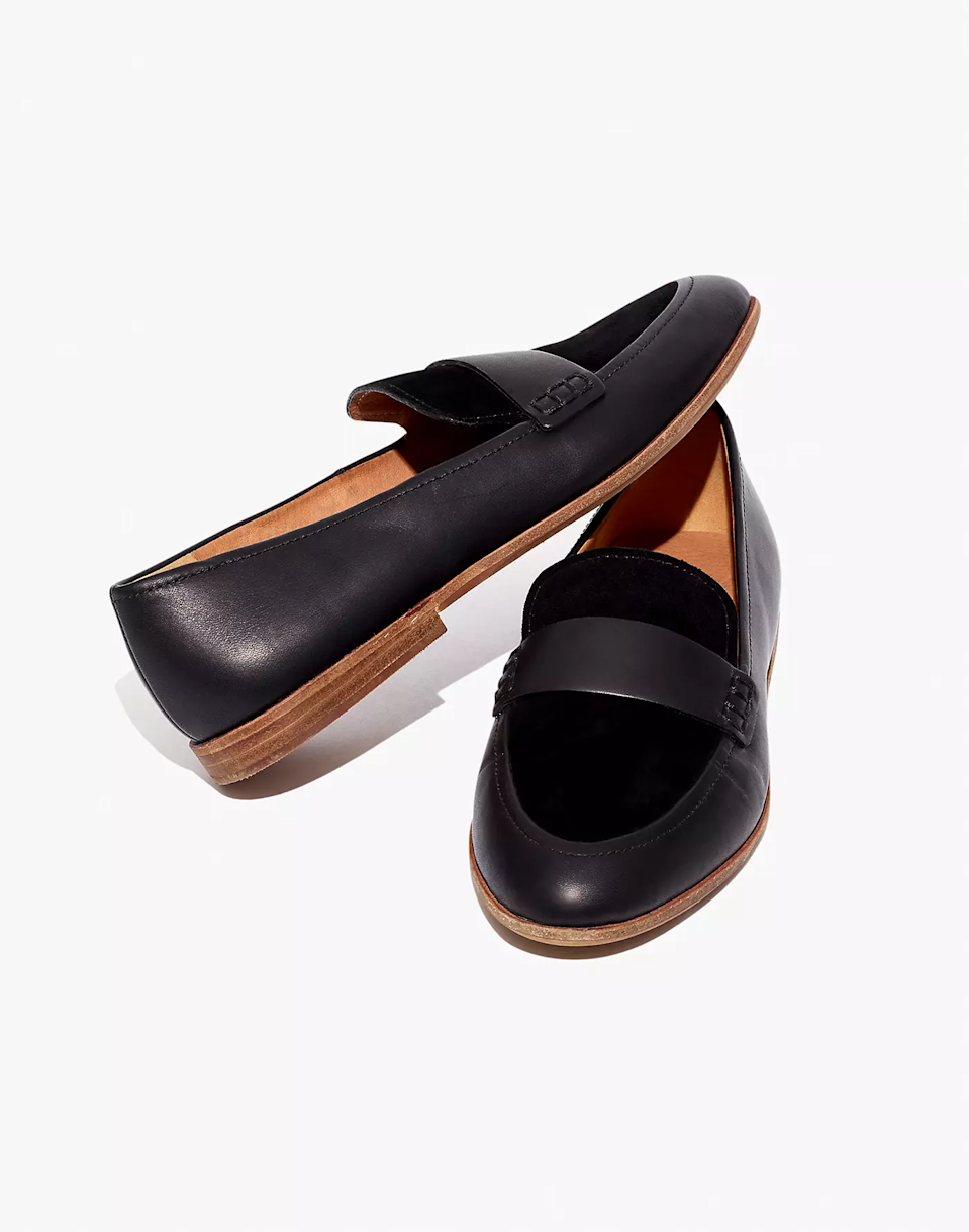 """<br><br><strong>Madewell</strong> The Alex Loafer, $, available at <a href=""""https://go.skimresources.com/?id=30283X879131&url=https%3A%2F%2Fwww.madewell.com%2Fthe-alex-loafer-in-leather-and-suede-AA201.html%3Fdwvar_AA201_color%3DBK5229%26cgid%3Dwomens-megafolder-bestsellers%23gridtype%3Dsix-up%26start%3D140"""" rel=""""nofollow noopener"""" target=""""_blank"""" data-ylk=""""slk:Madewell"""" class=""""link rapid-noclick-resp"""">Madewell</a>"""