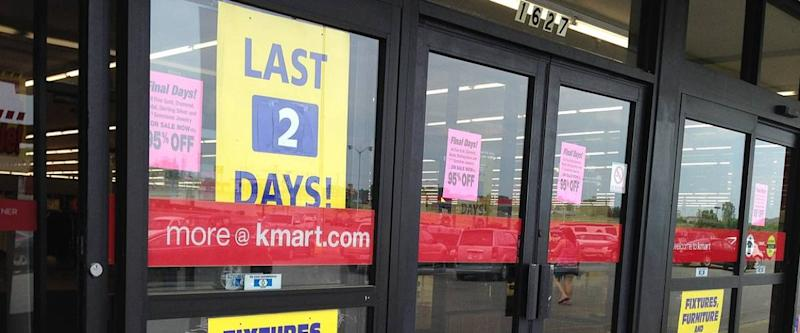 A Kmart store holds a going-out-of-business sale in Lancaster, Ohio