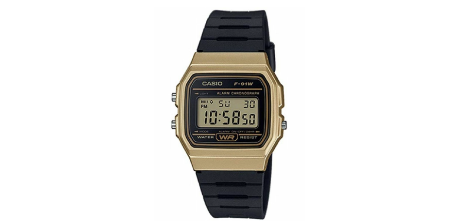 Casio F-91W en negro y core. Foto: amazon
