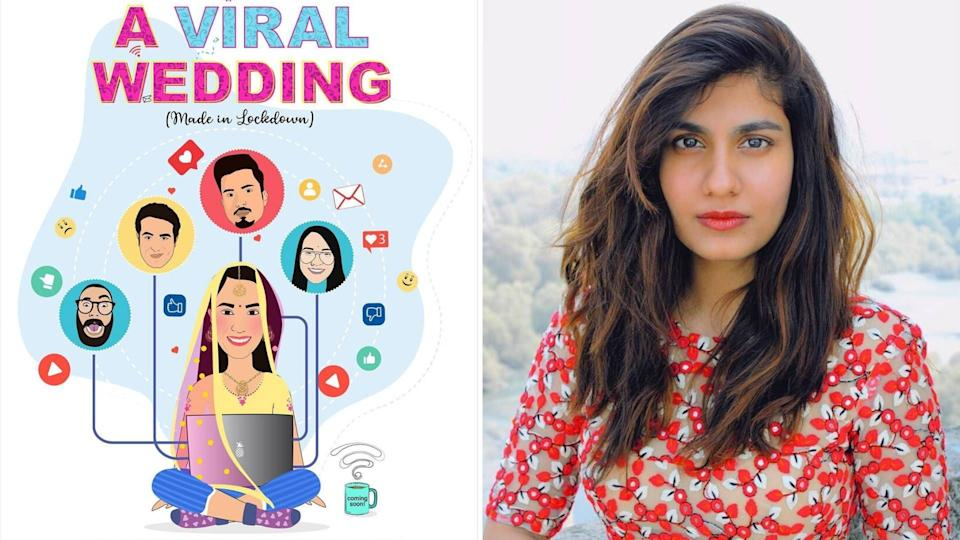 (L to R) A poster of <i>A Viral Wedding: Made In Lockdown</i>, series director Shreya Dhanwanthary.