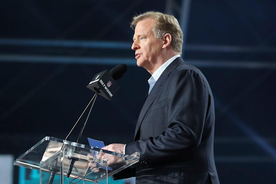 NFL Commissioner Roger Goodell, speaking during the 2021 Draft, is supportive of a new stadium being built in Buffalo for the Bills.