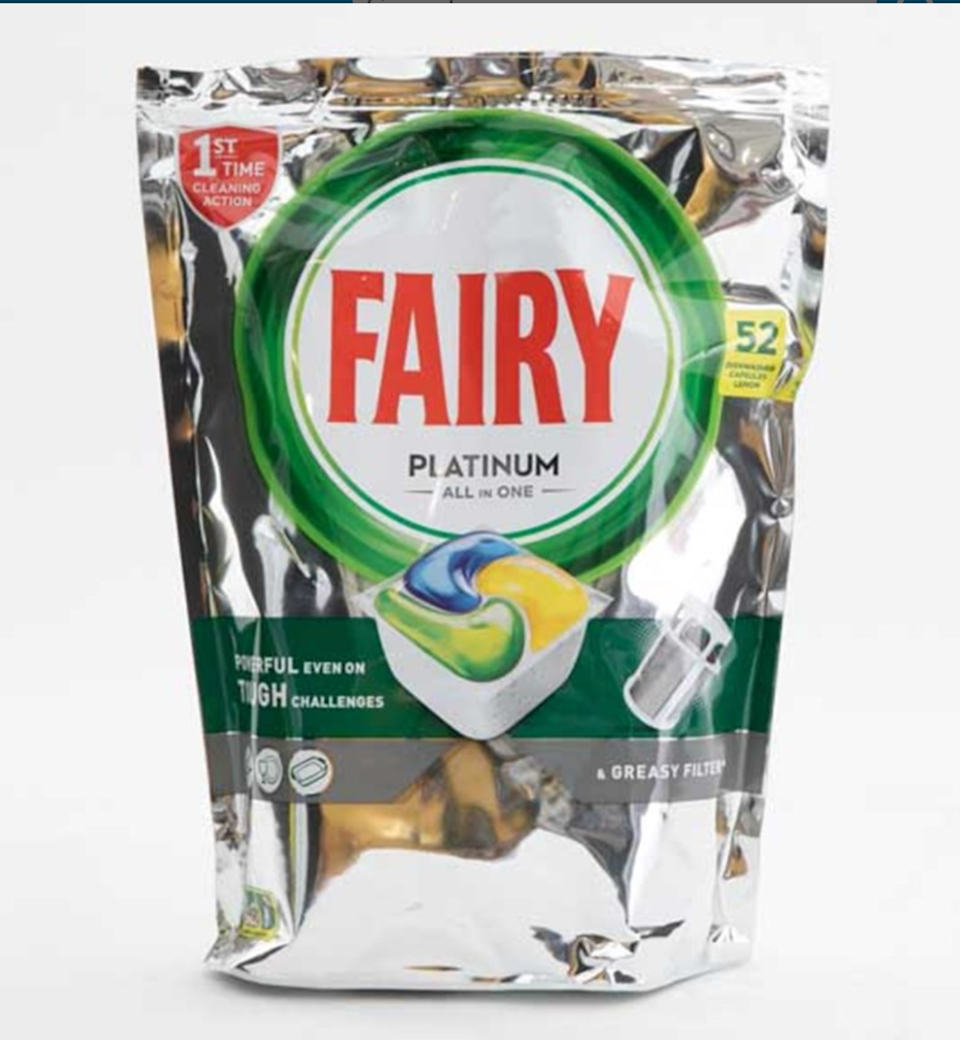 3rd out of 36 products, the Fairy Platinum All In One Dishwasher Capsules only narrowly missed out on second place.