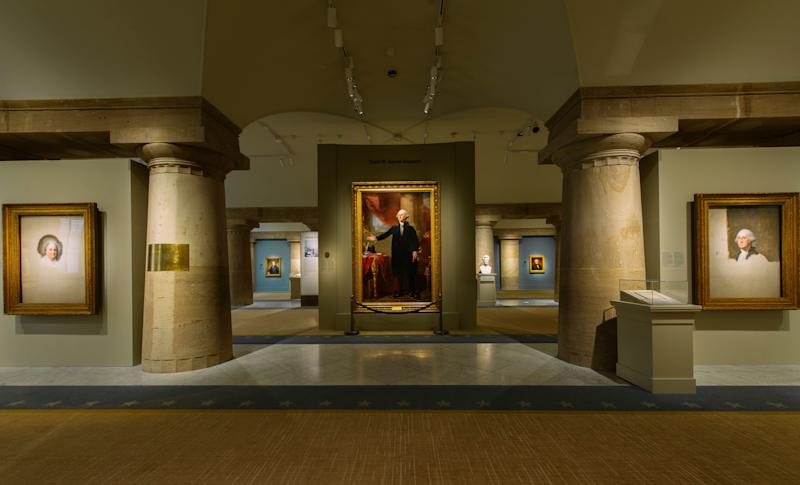 The existing halls of the National Portrait Gallery's presidential wing.