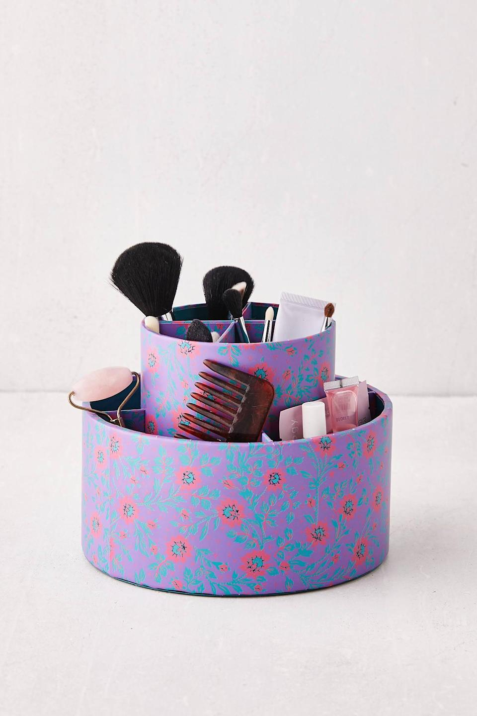 """<h2>Floral Pen Cup And Tray</h2><br>Florals make everything more fun, even organizing.<br><br><strong>Urban Outfitters</strong> Alexis Floral Pen Cup Trio And Desk Tray, $, available at <a href=""""https://go.skimresources.com/?id=30283X879131&url=https%3A%2F%2Fwww.urbanoutfitters.com%2Fshop%2Falexis-floral-pen-cup-trio-and-desk-tray"""" rel=""""nofollow noopener"""" target=""""_blank"""" data-ylk=""""slk:Urban Outfitters"""" class=""""link rapid-noclick-resp"""">Urban Outfitters</a>"""
