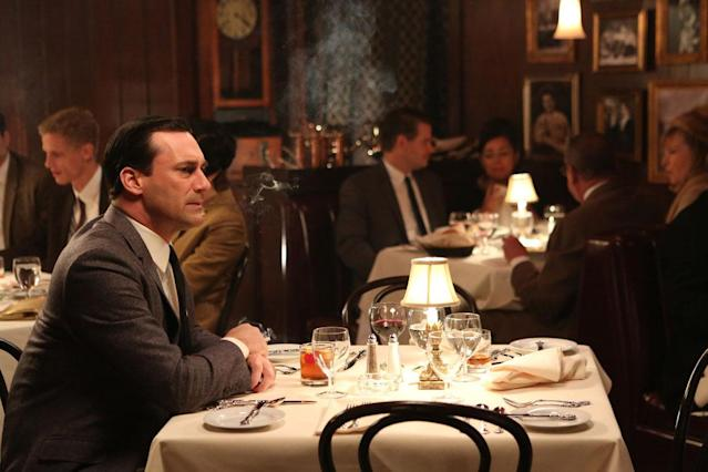 "Don Draper (Jon Hamm) in the ""Mad Men"" episode, ""The Collaborators."""