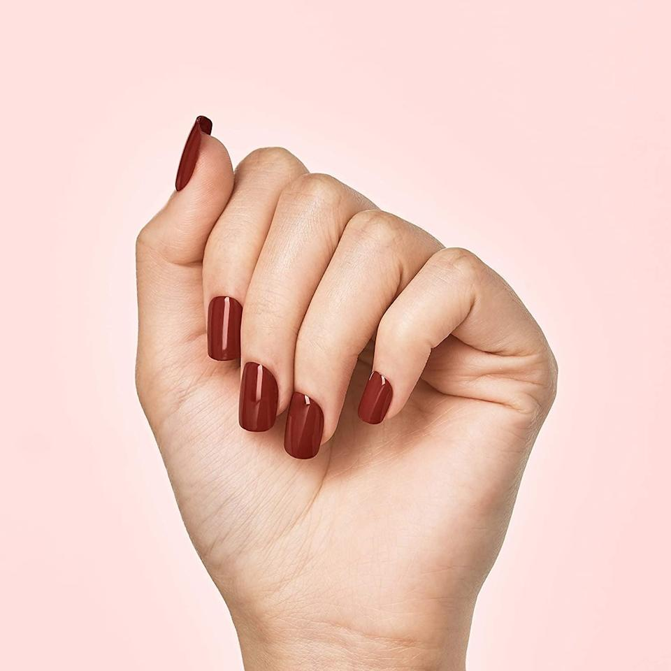 <p>Give yourself an instant simple mani no matter where you are with the <span>KISS imPRESS Color Press-On Manicure</span> ($7). This set is perfect for those who love a simple nail. It comes in so many different colors, you can get the whole rainbow! </p>