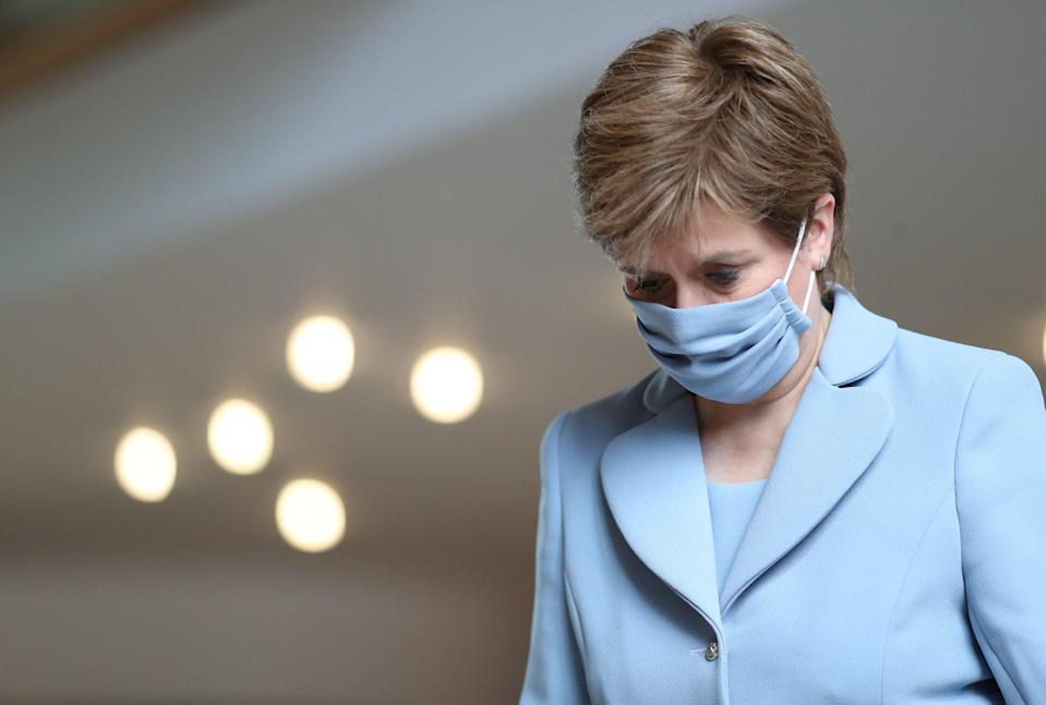 Nicola Sturgeon during first minister's questions at the Scottish parliament in Holyrood last week (PA)