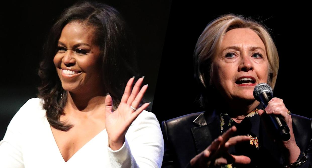 Michelle Obama, Hillary Clinton (Photos: Yui Mok/PA Images via Getty Images, Mario Anzuoni/Reuters)