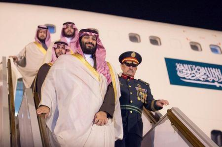 Saudi Arabia's Crown Prince Mohammed bin Salman arrives in Algiers