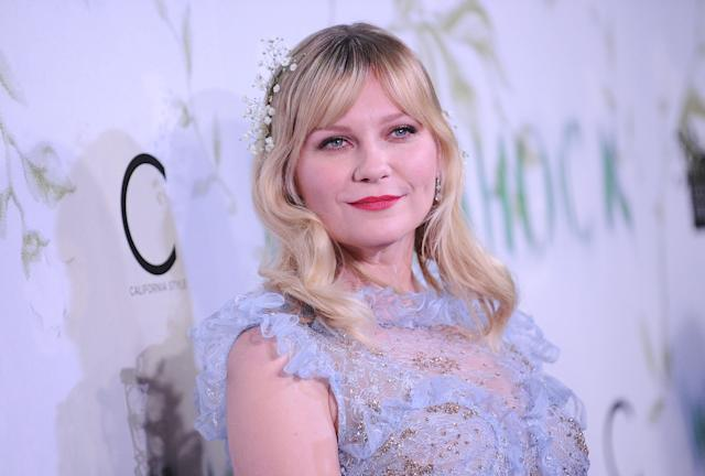 Kirsten Dunst at the premiere of <em>Woodshock,</em> in which she stars, directed by her friends and Rodarte masterminds Kate and Laura Mullleavy. (Photo: Getty Images)