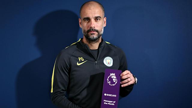 An unbeaten December has seen Pep Guardiola become the first coach to claim four successive Premier League manager of the month awards.