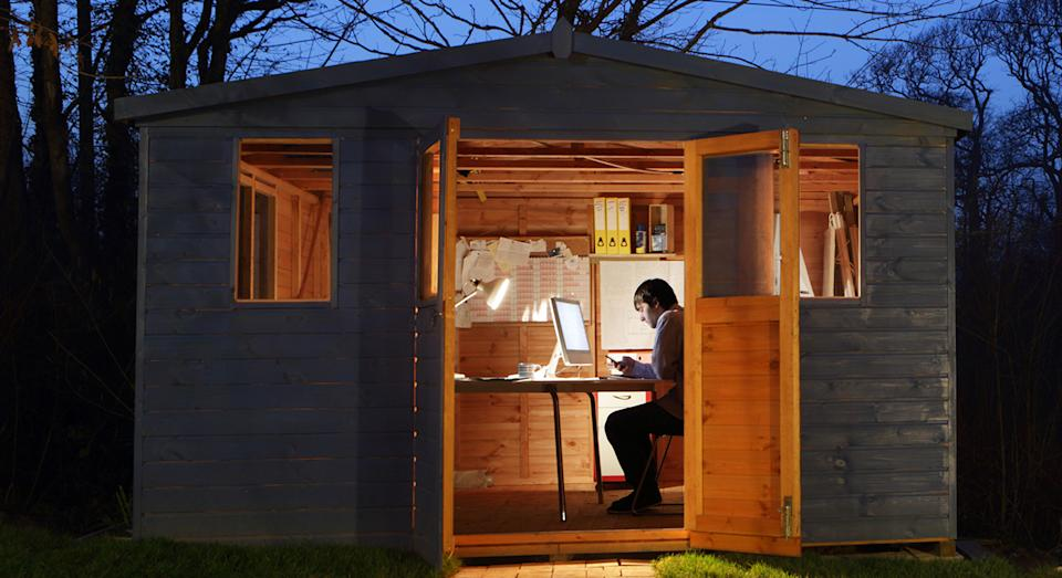 Garden sheds are fast becoming the new home office for some during the coronavirus pandemic.  (Getty Images)