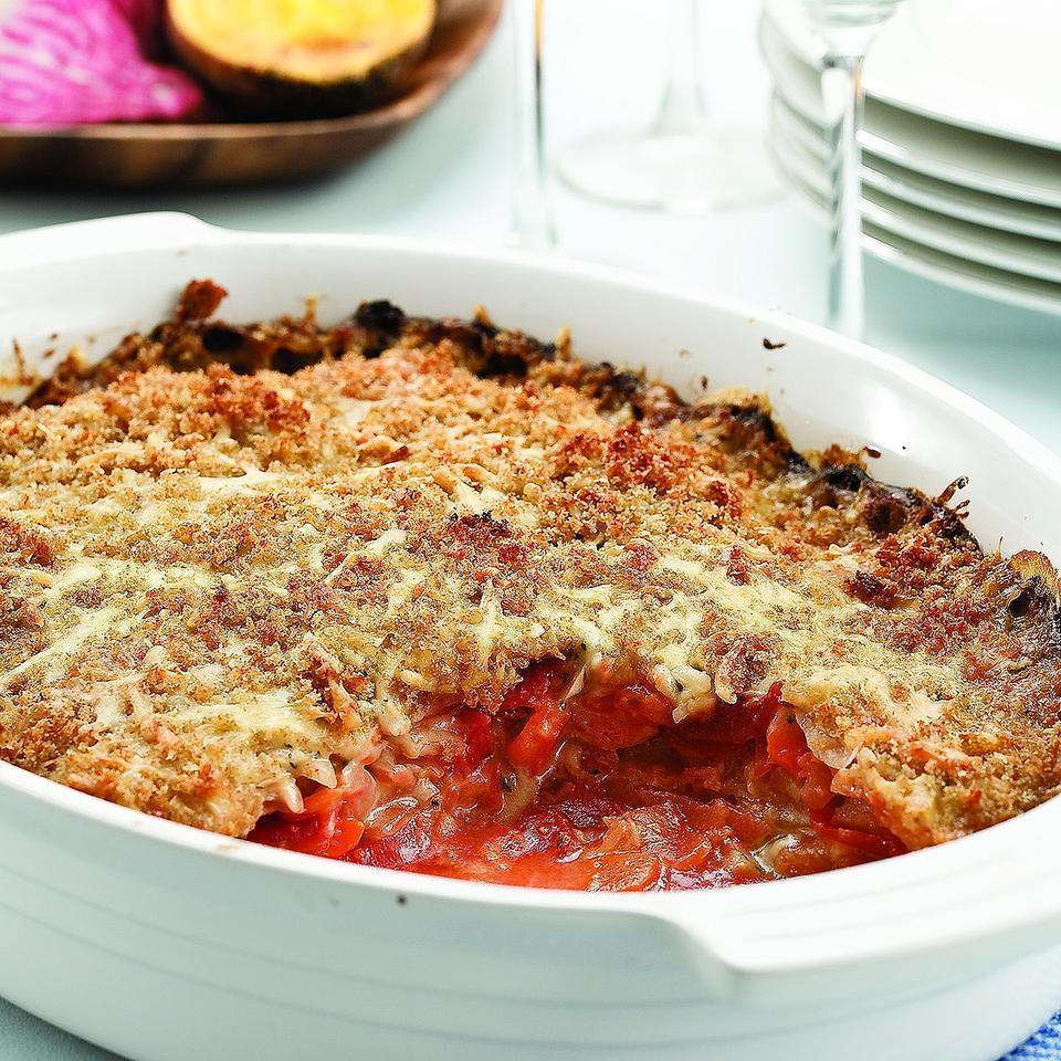 """<p>The rich flavor of Gruyère cheese brings out the nutty flavor of the roots in this creamy gratin. Any combination of roots works in this recipe, but if you use red beets, they will streak the gratin with bright color. A delightful side dish for any roasted meat. <a href=""""http://www.eatingwell.com/recipe/249778/root-vegetable-gratin/"""" rel=""""nofollow noopener"""" target=""""_blank"""" data-ylk=""""slk:View recipe"""" class=""""link rapid-noclick-resp""""> View recipe </a></p>"""