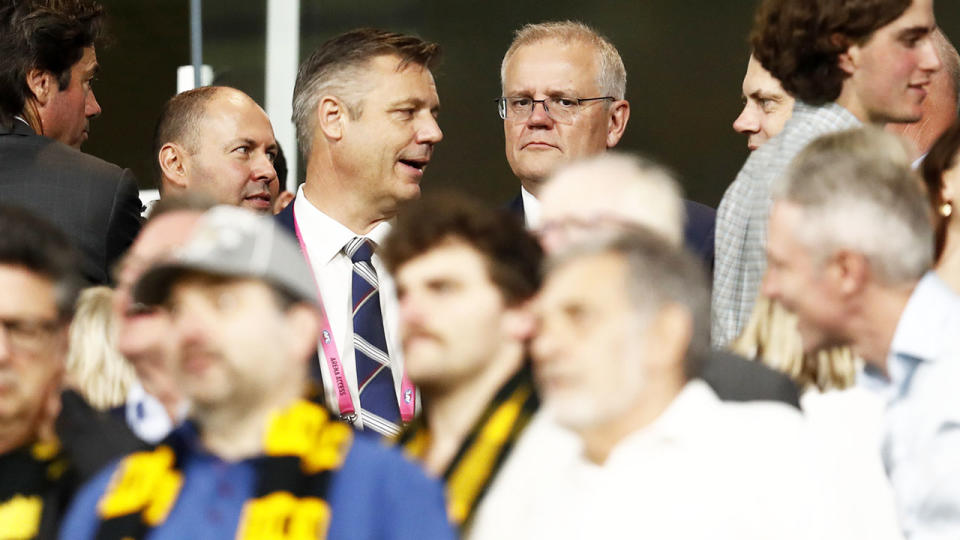 Scott Morrison, pictured here during Richmond's clash with Carlton at the MCG.