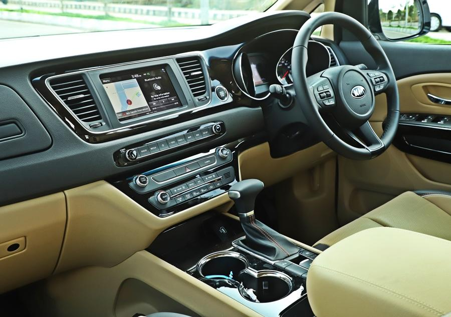The interior is where the Carnival takes things to a whole new level. The quality plus fit and finish along with the dash design makes it look like a much more expensive car than it actually is.