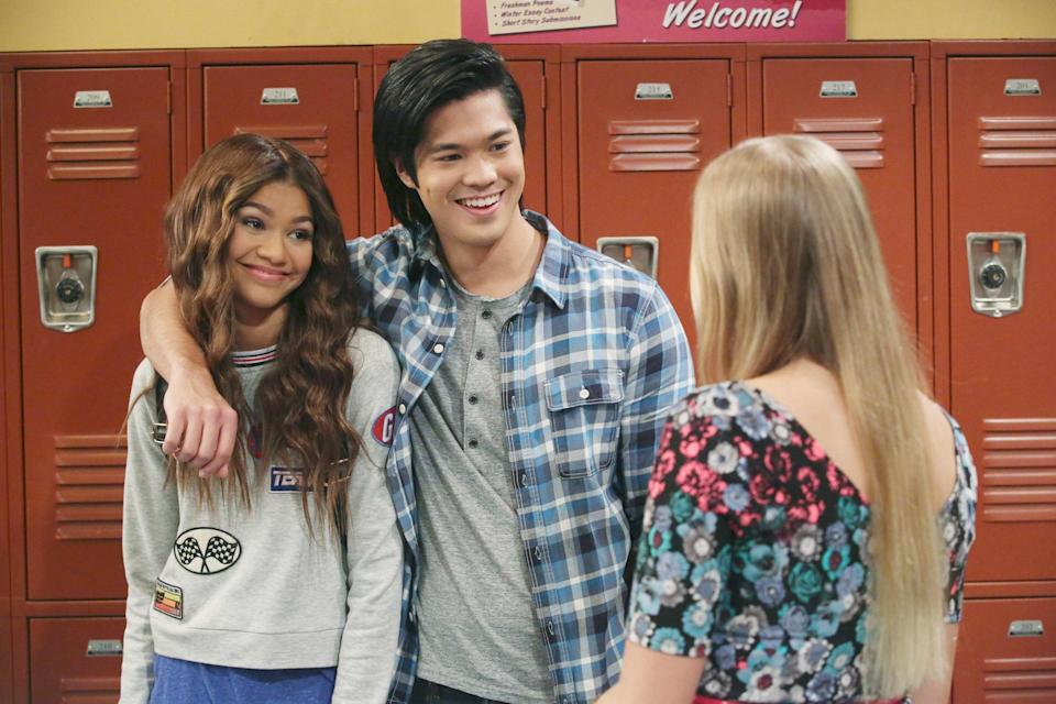 "<p>Can't get enough Zendaya, but a little too young (or just not in the mood) for <em>Euphoria</em>? Watch <em>K.C. Undercover</em>, about the teen daughter of a spy family who balances the family business with the even scarier perils of high school. Obviously, there are wigs on wigs on wigs.</p> <p><a href=""https://cna.st/affiliate-link/9DMYJr9yybX4gbbjvYyYuXVJiFkphPByABhE31pGAroAS54dev7ubhMz3JFqbs9VcEzuJrHa1vBmnpdbGctPZ5aWmCfK3mUHSXwyeYpYWTdx4LjboR6uEU8AT8m?cid=602d2958d39470a593a90b27"" rel=""nofollow noopener"" target=""_blank"" data-ylk=""slk:Watch now on Disney+"" class=""link rapid-noclick-resp""><em>Watch now on Disney+</em></a></p>"