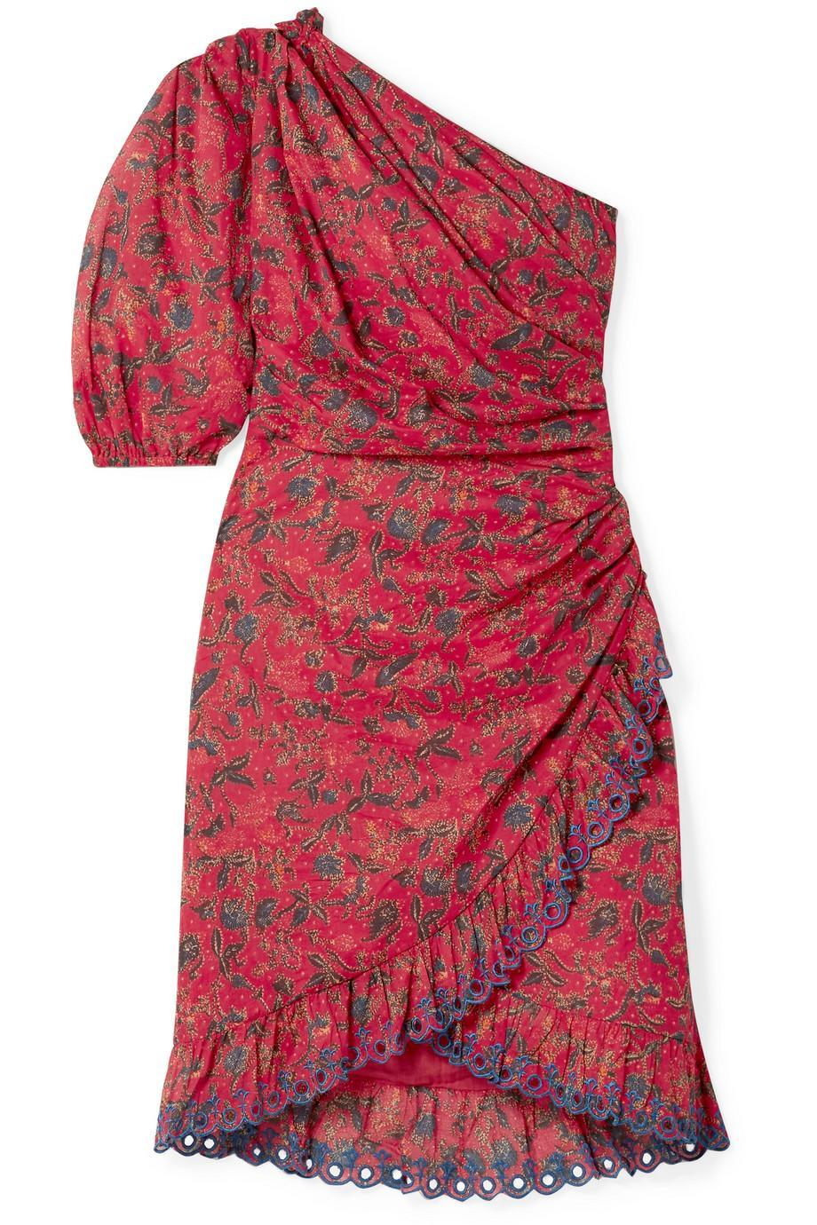The television presenter wore Isabel Marant's £315 'Esther' dress on December 2 [Photo: Courtesy]