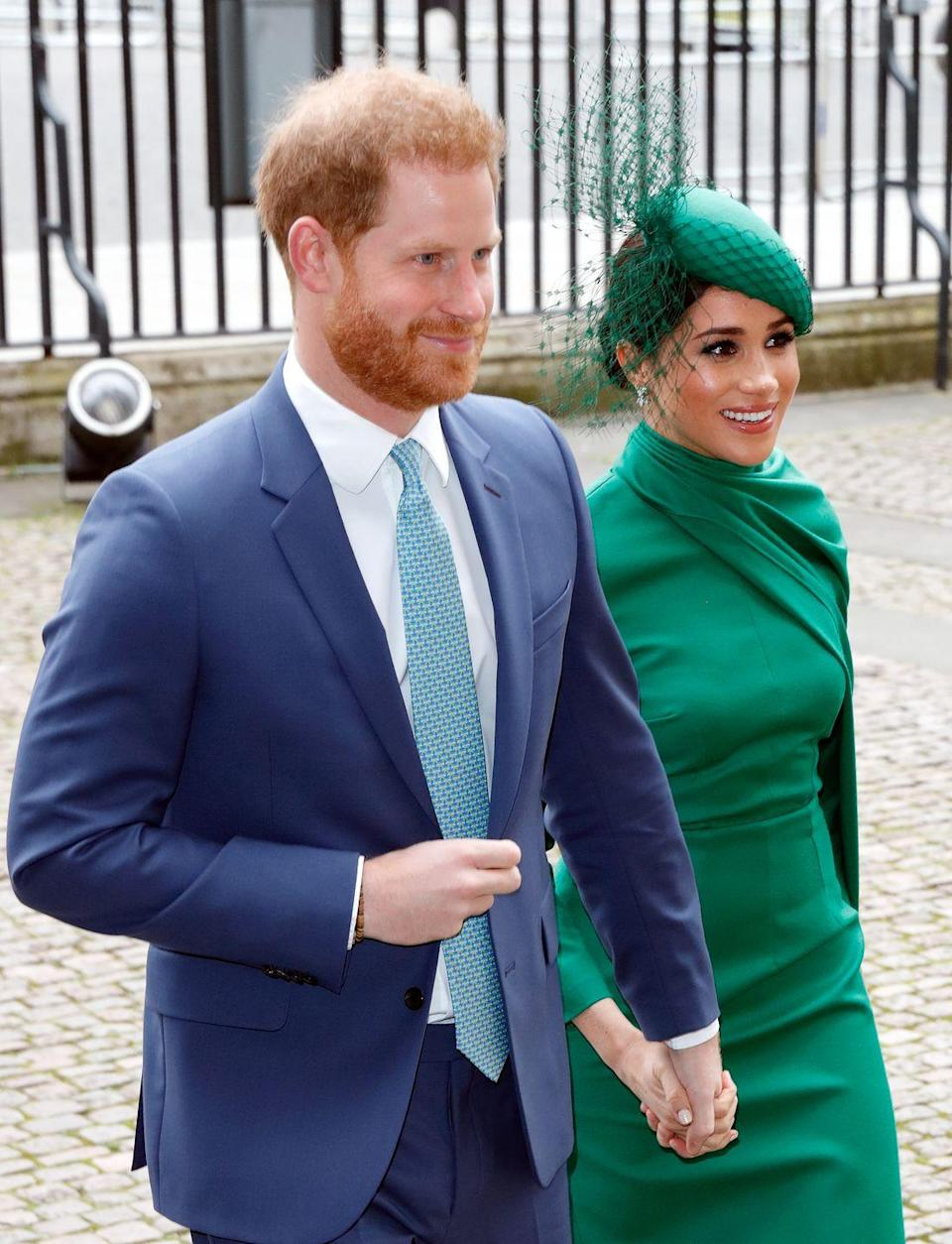 """<p><strong>When did they meet?</strong> 2016</p><p><strong>How did they meet? </strong><a href=""""https://www.cosmopolitan.com/uk/reports/a35162506/meghan-harry-timeline/"""" rel=""""nofollow noopener"""" target=""""_blank"""" data-ylk=""""slk:Prince Harry revealed he and American actress Meghan"""" class=""""link rapid-noclick-resp"""">Prince Harry revealed he and American actress Meghan</a> were set up on a blind date by a mutual friend. </p><p>Speaking to the BBC about their first date, Meghan said: """"Because I'm from the States, you don't grow up with the same understanding of the Royal Family. I didn't know much about him, so the only thing that I had asked [our mutual friend] when she said that she wanted to set us up, was, 'Well is he nice?' Because if he wasn't kind, it just didn't seem like it would make sense.""""</p>"""