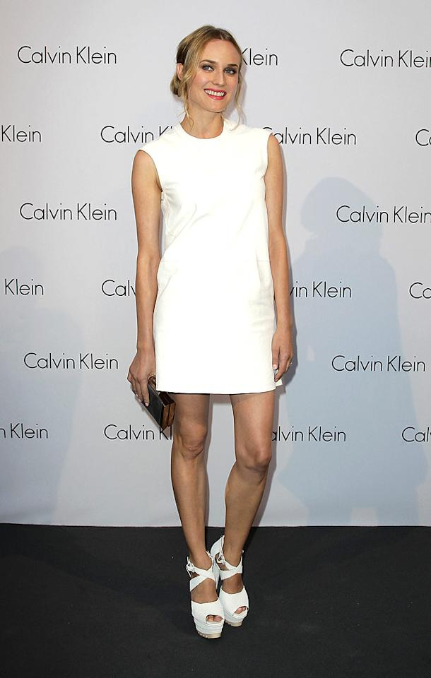 """Following in Zoe's footsteps was Joshua Jackson's better half, Diane Kruger, who looked fresh and fabulous in a minimalistic CK sheath and strappy platform peep-toes. Andreas Rentz/<a href=""""http://www.gettyimages.com/"""" target=""""new"""">GettyImages.com</a> - July 7, 2010"""