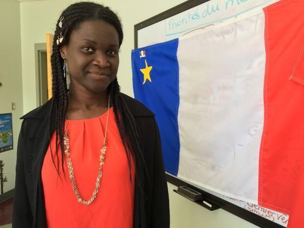 Isabelle Dasylva-Gill, executive director of Société Acadienne et Francophone de l'Ȋle-du-Prince-Édouard, says the goal is to try to boost the bilingual workforce on P.E.I. and reduce the financial burden for students who want to continue their studies in French.  (Sarah MacMillan/CBC - image credit)