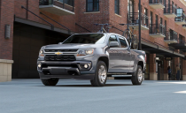 "<p>The <a href=""https://www.caranddriver.com/chevrolet/colorado"" rel=""nofollow noopener"" target=""_blank"" data-ylk=""slk:Chevrolet Colorado"" class=""link rapid-noclick-resp"">Chevrolet Colorado</a> is available from two-wheel-drive work truck spec all the way up to a Moab-capable ox. It nears full-size capability in a mid-size package while achieving the best towing numbers of the segment. Chevy's infotainment system looks great and comes packed with modern tech, and even if the rest of the styling doesn't quite keep up with the times, the available cargo room in the crew-cab model is only outdone by the Honda Ridgeline. Like its GMC brother, the Colorado is no longer sold with a manual transmission, but at least you can still get one with a snorkel. <a class=""link rapid-noclick-resp"" href=""https://www.caranddriver.com/chevrolet/colorado/specs"" rel=""nofollow noopener"" target=""_blank"" data-ylk=""slk:MORE CHEVROLET COLORADO SPECS"">MORE CHEVROLET COLORADO SPECS</a></p><ul><li>Base price: $26,395</li><li>Powertrain: 186-hp 2.8L turbo-diesel inline-4, 200-hp 2.5L inline-4; six-speed automatic transmission; 308-hp 3.6L V-6, eight-speed automatic transmission</li><li>Max Towing: 7700 lb</li></ul>"