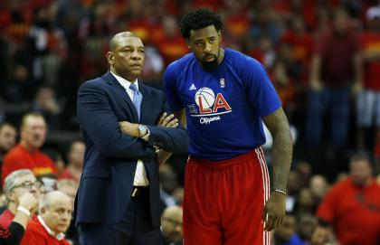 DeAndre Jordan (right) called Clippers coach Doc Rivers to express reservations about joining the Mavs. (Getty Images_