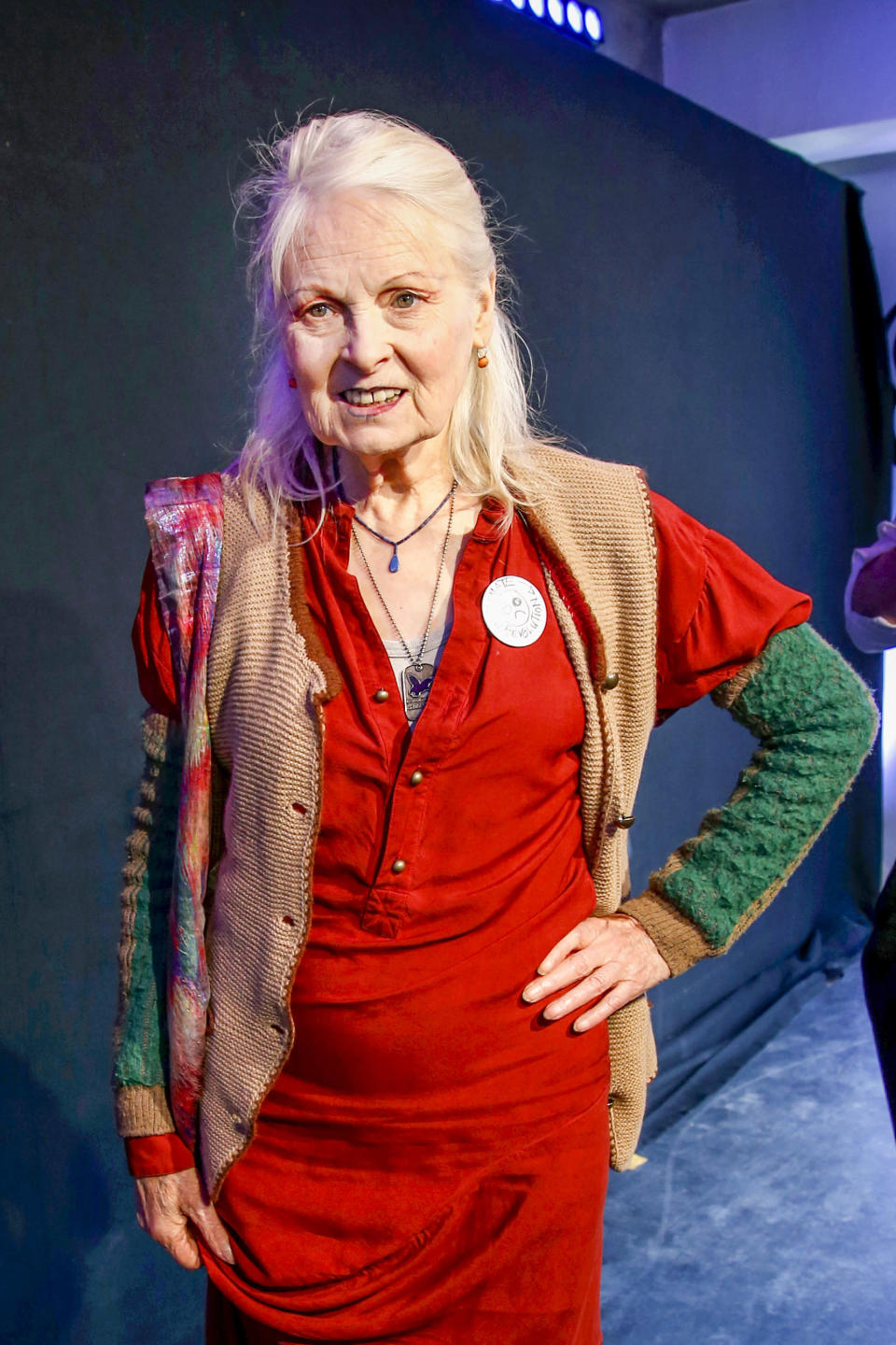 Fashion Designer Vivienne Westwood arrives at the Bread & Butter by Zalando event in 2017 (Photo: Isa Foltin/Getty Images for Zalando)