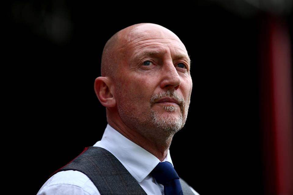 Ian Holloway during the Sky Bet Championship match between Brentford and Queens Park Rangers at Griffin Park on April 21, 2018 in Brentford, England.
