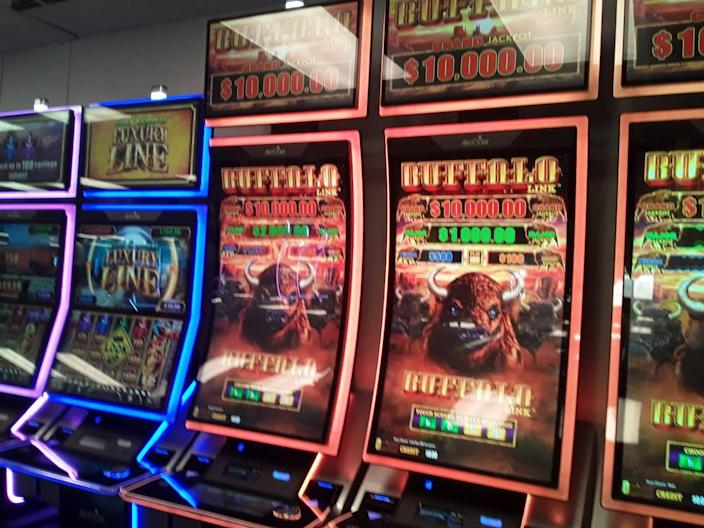 """""""Buffalo"""" is the most popular slot machine players will find among the various slot machine games at the soon-to-open """"pre-launch"""" Catawba Nation gambling facility in Kings Mountain, with """"Wheel of Fortune"""" a close second, a casino project consultant said during a tour of the facility on June 17, 2021.."""