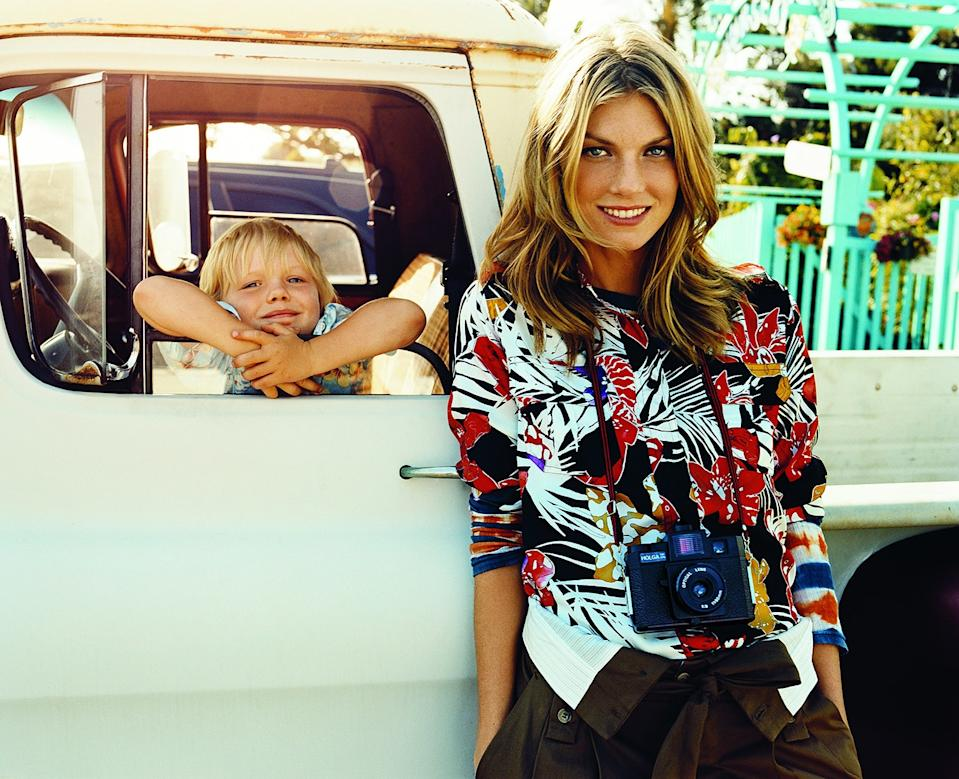 Angela Lindvall and Sebastian.