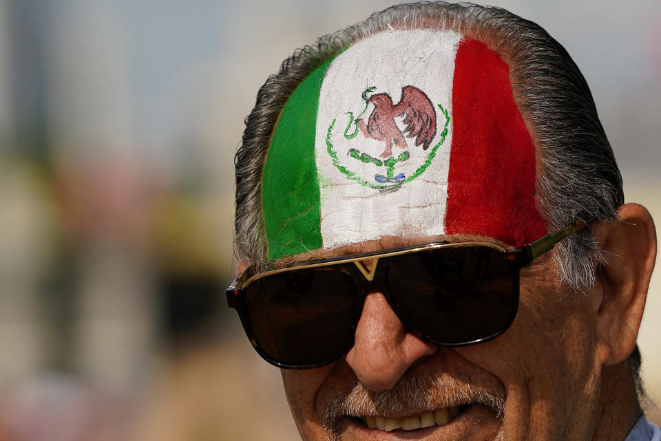 <p>Fan of Mexico, during the 2018 FIFA World Cup Russia group F match between Mexico and Sweden at Ekaterinburg Arena on June 27, 2018 in Yekaterinburg, Russia. (Photo by Carlos Cuin/Jam Media/Getty Images) </p>