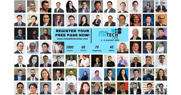 Over 70 world renowned speakers confirmed for Virtual FinTech Fair