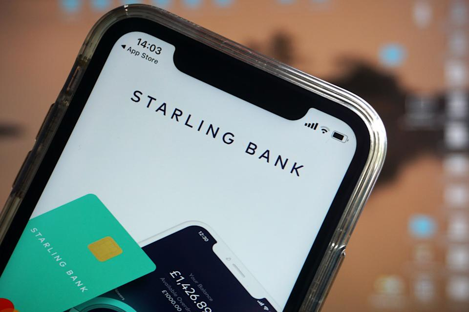 Starling Bank, Monzo and First Direct were the most highly rated by customers in a survey of 4,500 members of the public on their opinions of their current account providers. Photo: Adrian Dennis/AFP via Getty