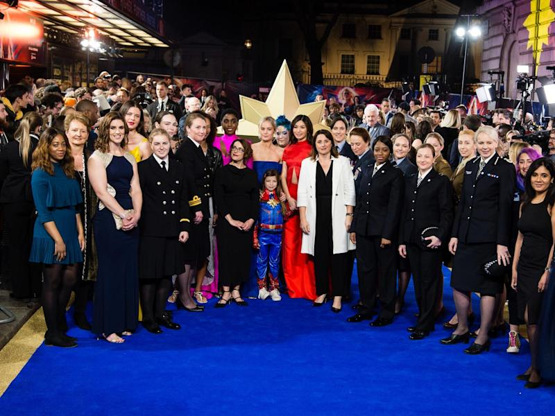 Captain Marvel: Female police officers attend London premiere to celebrate 100 years of women in Met Police