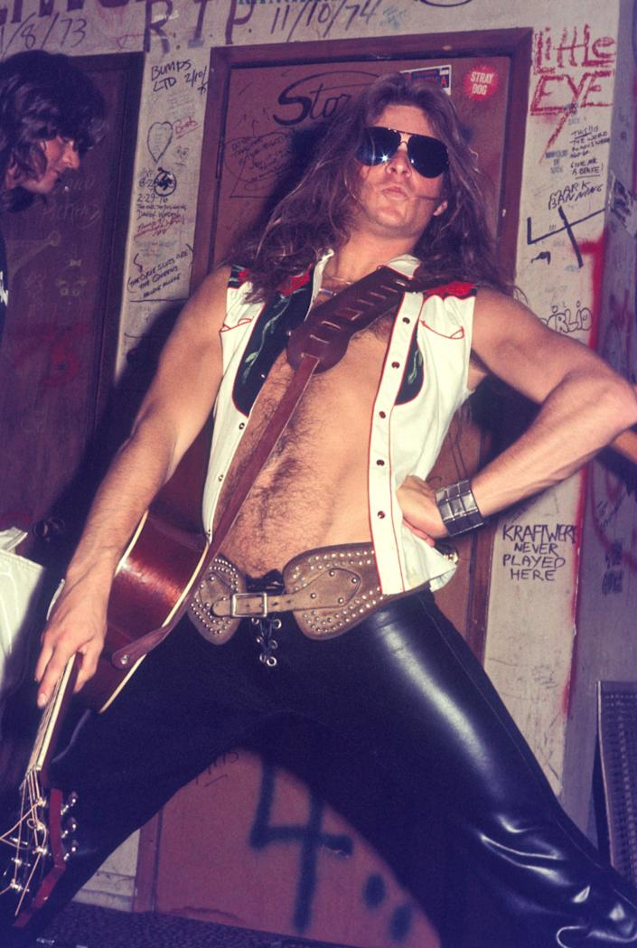 David Lee Roth in the dressing room at the Whisky a Go Go in West Hollywood, May 29, 1977.