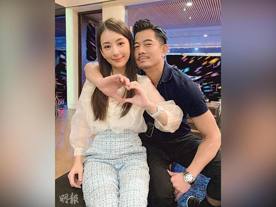 Aaron Kwok expresses his love and support by liking several online posts made by wife Moka Fang.