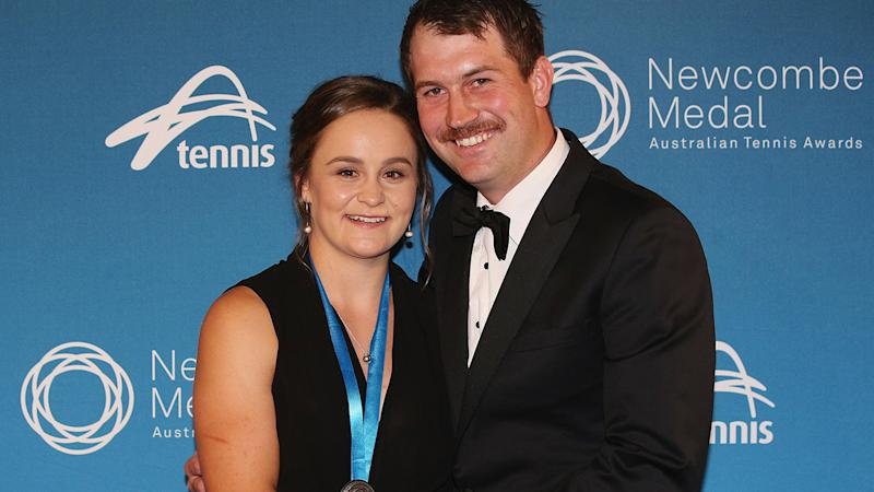 Ashleigh Barty and Garry Kisick, pictured here at the 2017 Newcombe Medal.