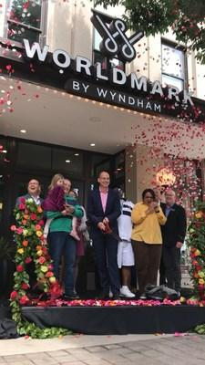 Wyndham Destinations celebrated the opening of the first timeshare resort in Downtown Portland, Ore. -- WorldMark Portland - Waterfront Park -- with a Rose City-inspired celebration, complete with a rose-ribbon cutting, rose petal confetti and a donation to the Oregon Food Bank.