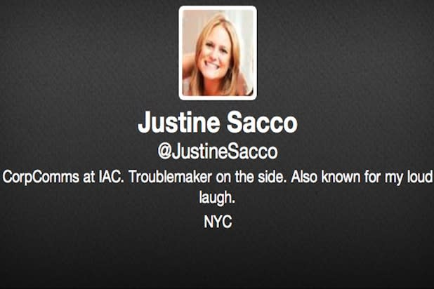 Justine Sacco Deletes 'Hope I Don't Get Aids' Tweet – and Her Account – After Landing in Africa