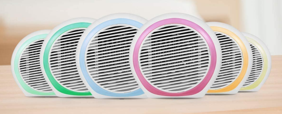 This adorable air conditioner can cycle through a rainbow of colors. (Photo: Amazon)