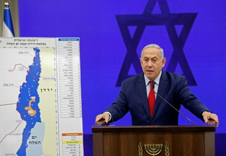 Israeli Prime Minister Benjamin Netanyahu's pre-election pledge to annex the West Bank's Jordan Valley has drawn firm condemnation from the Palestinians, Arab states, the United Nations and the European Union