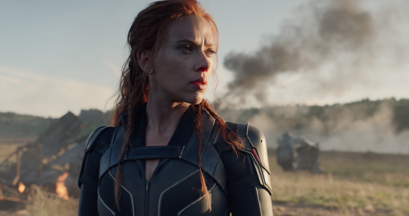 Scarlett Johansson in 'Black Widow'. (Credit: Marvel/Disney)