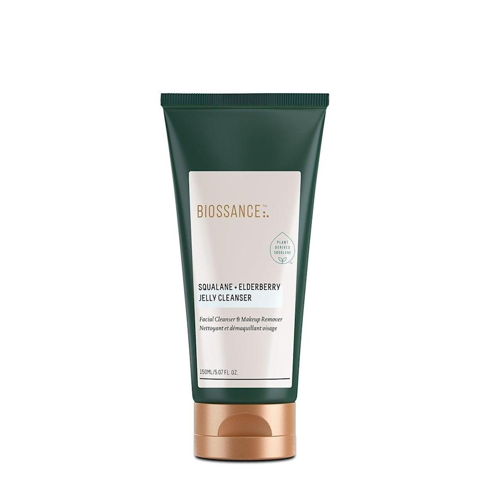 <p>The <span>Biossance Squalane + Elderberry Jelly Cleanser</span> ($28) features a jelly-to-oil formula that's gentle on the skin but still strong enough to remove every trace of makeup.</p>