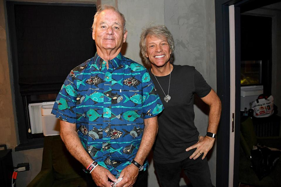 <p>Also at the benefit concert: a smiling Bill Murray and Jon Bon Jovi.</p>